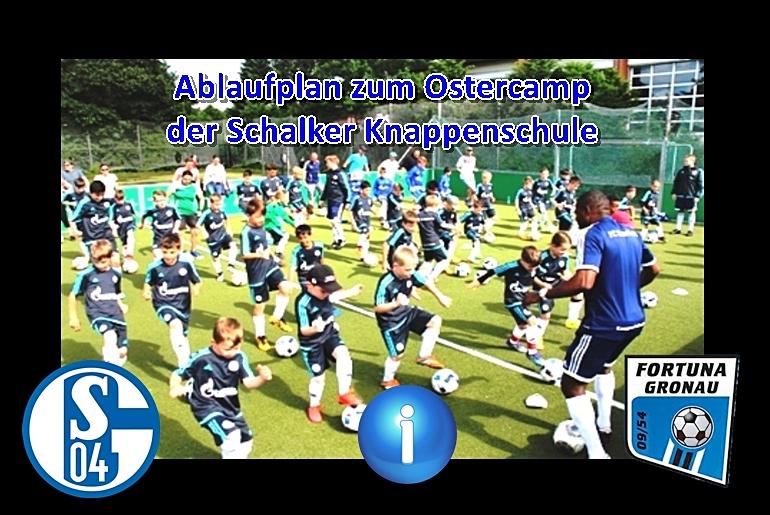 Ablaufplan der Schalker Knappenschule steht