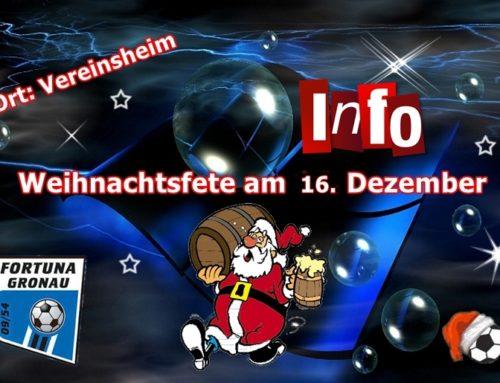 Info zur Weihnachtsfeier
