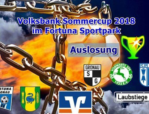 Volksbank-Sommer-Cup: Auslosung steht