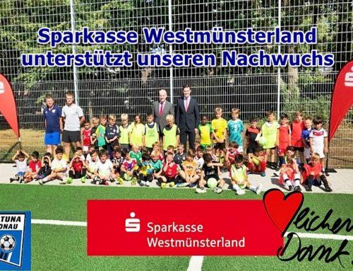 Sparkasse Westmünsterland unterstützt Fortunen-Nachwuchs