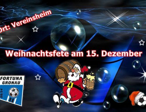 Info zur Weihnachtsfeier 2018