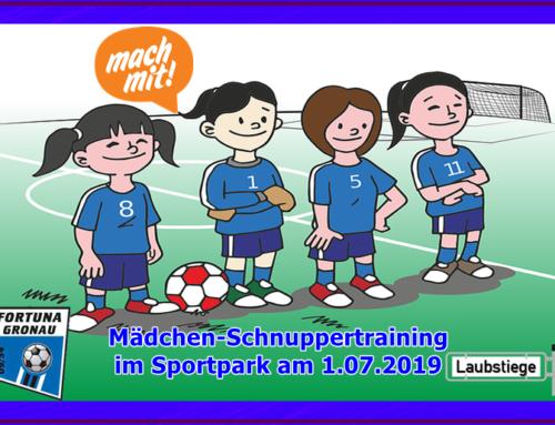 Mädchen-Schnuppertraining im Sportpark