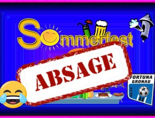 Info: Leider Absage vom Sommerfest