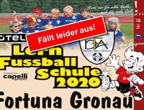 DFA-Fussball-Lernschule sagt Ostertermin ab!!!