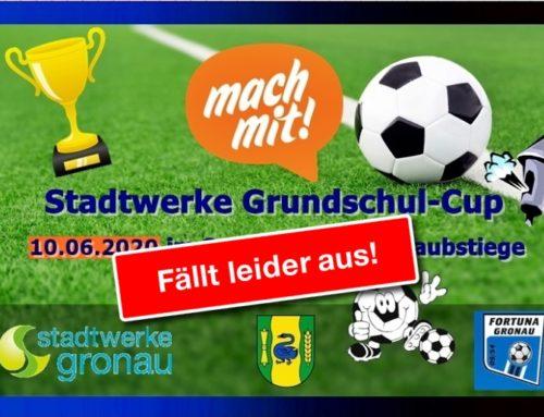 Stadtwerke Grundschul-Cup 2020 abgesagt