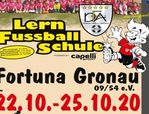 Neuer Termin für Fussball-Lernschule in den Herbstferien