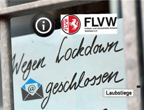 FLVW Nachricht zur Sportplatznutzung