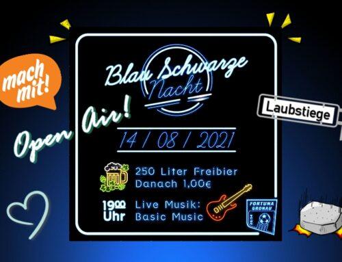 Erinnerung: Blau-Schwarze Nacht am 14.08.